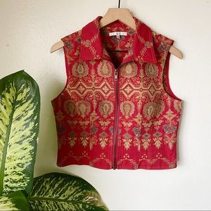 Cabi | Brocade Vest